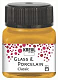 Kreul Glass & Porcelain Classic 16247 - Pintura para cristal (20 ml, pintura brillante para vidrio y porcelana a base de agua, secado rápido, opaca)