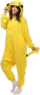 HOLA SUNNY Pikachu Onesie for Adults. Halloween Xmas Animal Kigurumi Pajama Costume for Women/Men