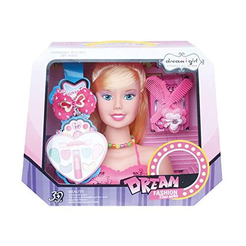 Frisierkopf Schminkkopf, Styling-Kopf, Styling Head Frisierköpfe für Kinder, inklusiv Kosmetik und Zubehör