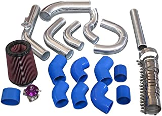 Cxracing Intercooler Piping Kit BOV Turbo Air Filter For 98-05 Lexus IS300 2JZ-GE NA-T Blue Hoses