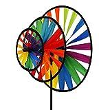 CIM Girouette - Magic Wheel Triple - résiste aux UV et aux intempéries - Roues : Ø35 / 25/16 cm, Hauteur: 102cm - INCL. Tige en Fibre de Verre