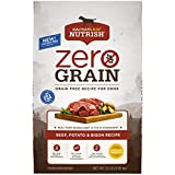 Rachael Ray Nutrish Zero Grain Natural Dry Dog Food, Beef, Potato & Bison Recipe, 22 Pounds, Grain Free (Packaging May Vary)