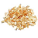 Electrical Terminal Waterproof 100pcs Spade Terminal Connector Cable Lugs Cable Plug 6.3mm Uninsulated Blank 0.5-1.5mm For Electrical Equipment