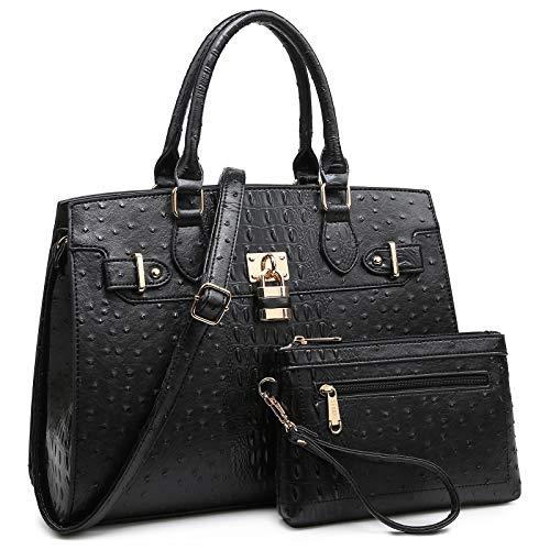 Dasein Women Handbags and Purses Ladies Shoulder Bag Top Handle Satchel Tote Work Bag with Wallet