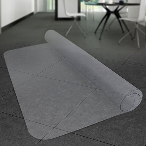 Komene Office Chair Mat: Make The Best Protection for Hardwood Floor,Multiple Sizes - BPA-Free and Rectangular Non-Toxic, Great Clear Thick Vinyl Mat for Rolling Chair and Computer Desk (36x48)