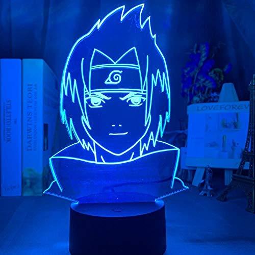 Naruto 3D-Nachtlicht, kleines Geschenk, LED, Nachttischlampe, Anime-Schwarz, Fernbedienung, HY804
