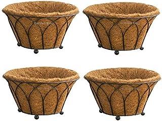 Garden KING-14 INCH Coir Floor Basket-Designer Floor Basket with Coir Liner (Set of 4)