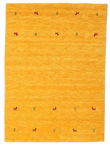 RugVista, Gabbeh Loom Two Lines, Fait Main, Tapis, Gabbeh, Longue Pile, 140 x 200 cm, Rectangle, Care & Fair, Laine, Couloir, Chambre, Cuisine, Salon, Vin Rouge