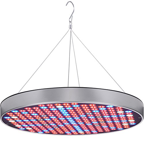 LED Grow Light Bulb Panel 50W UFO Plant Growing Lamp with 250 LEDs Red Blue UV IR Full Spectrum Growing Lights for Indoor Plants, Seed Starting, Seedling, Veg and Flower by Hytekgro