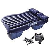 Yescom Car Air Bed Travel Camping Inflatable Mattress Backseat Cushion w/Pillow Pump