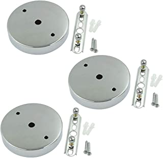 BokWin 97mmx20mm Silver Retro Ceiling Light Plate Pointed Round Base Chassis Disc Pendant Accessories with Screws 3Pcs