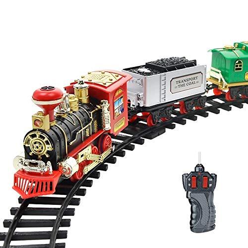 Toy Elektro Dynamische Dampf RC Gleis Eisenbahn Set Simulation Modell Spielzeug for Kinder Wiederaufladbare Kinder Fernbedienung Spielzeug-Set (333-72),Monsteramy (Color : 333-72)