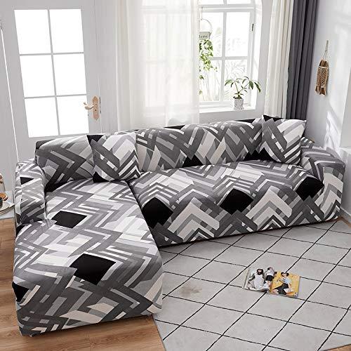 Funda de sofá en Forma de L Fundas elásticas Fundas de sofá elásticas para Sala de Estar Funda de sofá seccional Chaise Longue A20 2 plazas