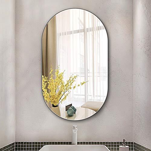 Family History Espejo De Baño Ovalado, Espejo Creativo para Colgar En La Pared Sin Marco para Sala De Estar De Entrada De Baño