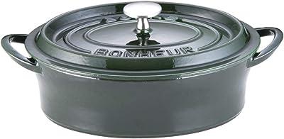 イシガキ産業 ボン・ボネール ココットオーバル 26㎝ マジョリカグリーン 鉄鋳物 中国 ABVB907