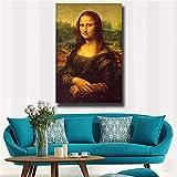 GJQFJBS HD Impression sur Toile Classique Mona Lisa Portrait Décoration de La Maison Art Mural Affiche A3 50x70 cm