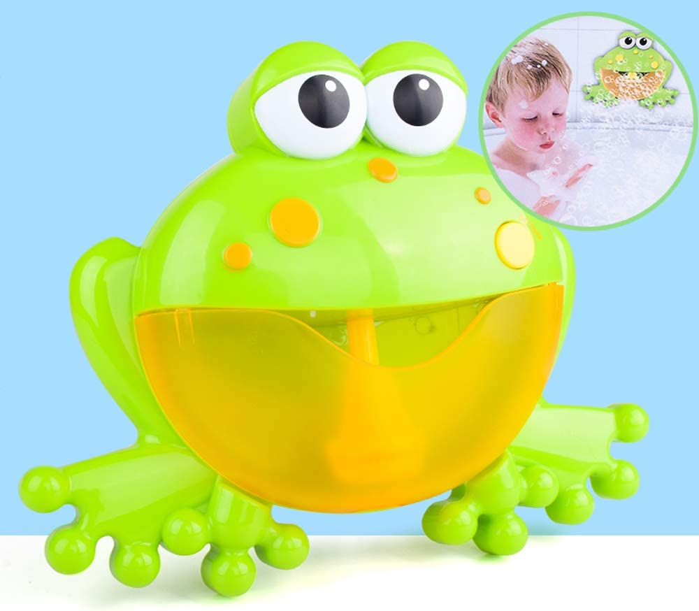 Musical Frog Baby Bath Toy Bubble Machine Maker Bathtub Topics on TV Super beauty product restock quality top! for