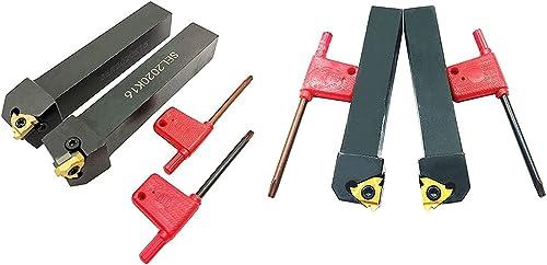 2021 ASZLBYM outlet sale CNC Lathe Carbide Indexable Turning Tool Holder online SER2020K16 SEL2020K16 SER1616H16 SEL1616H16 with Indexable Turning Insert 4PCS 16ER / IR AG60 BP010 Carbide Turning Insert outlet sale
