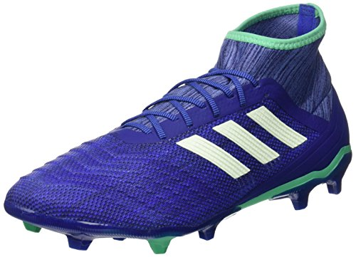 adidas Predator 18.2 Fg, Scarpe da Calcio Uomo, Blu (Blau/Grün Blau/Grün), 43 1/3 EU