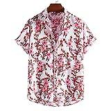 SSBZYES Camisas para Hombres Camisas De Verano De Manga Corta Camisas De Flores Tops para Hombres Camisetas Verano De Talla Grande Estampado Hawaiano Camisas De Manga Corta para Hombres