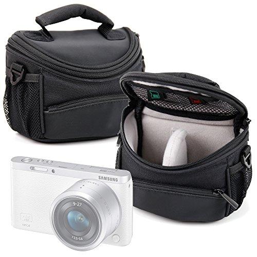 DURAGADGET Funda/Bolsa Protectora para cámara Samsung EV-NXF1ZZB4HDE NX, EV-NXF1ZZB4JDE NX Mini, Galaxy Camera 2, NX Mini Smart Camera, NX3000, NX300M, NX500, WB37F, WB350F, WB35F, WB36F Color Negro