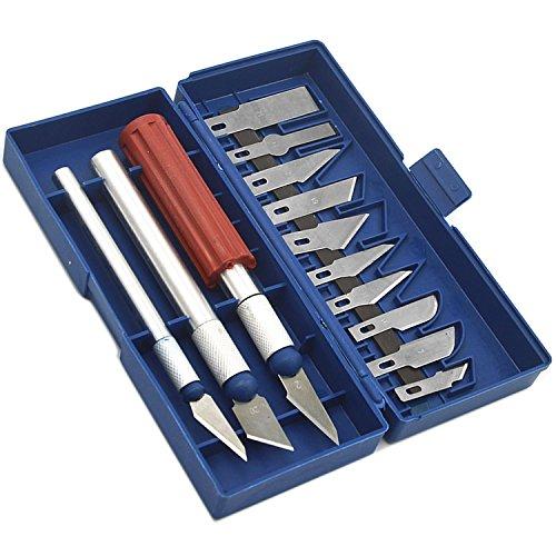 13 Pcs En Acier Inoxydable Travail Manuel Bois Sculpture Gravure Coupe Décapage Couteau Hobby Couteaux Lame avec Étui Beetest®
