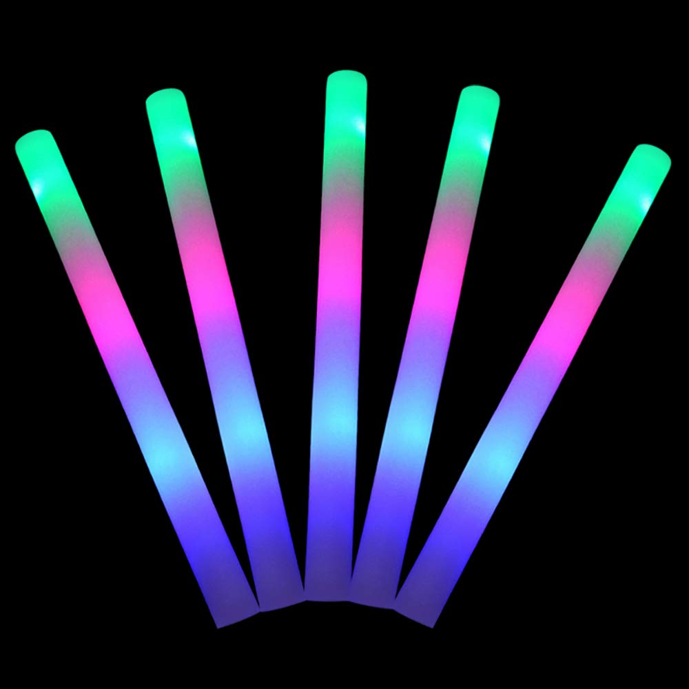Light Up Toys for Party Halloween . Lifbeier 30 Pack Glow Foam Sticks and 100 Pack Glowsticks Christmas Birthday Wedding