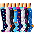 CHARMKING Compression Socks for Women & Men Circulation 8…