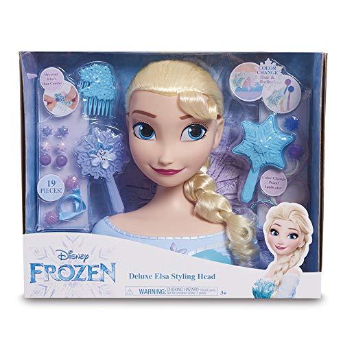 STYLING HEAD Disney Elsa Busto Deluxe com 18 Accesorios para maquillarla y peinarla