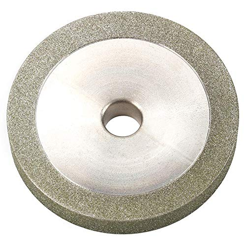 3 Inch 150 Grit Flat Diamond Grinding Wheel Cutter Grinder Power Tool with 1/2' Bore for Grinding Hard Alloy, Glass, Tiles and Ceramics 78x12.7x10mm