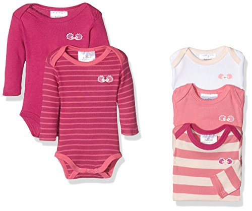 Twins Body EMILIA, Body Bebé-Niñas, lot de 5, Rosa (pink), 50
