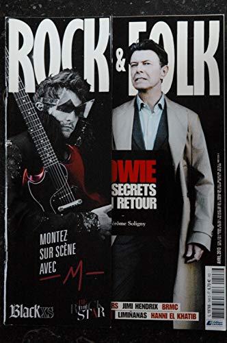 ROCK & FOLK 548 avril 2013 COVER BOWIE M Daniel Darc Jimi Hendrix Black Sabbath