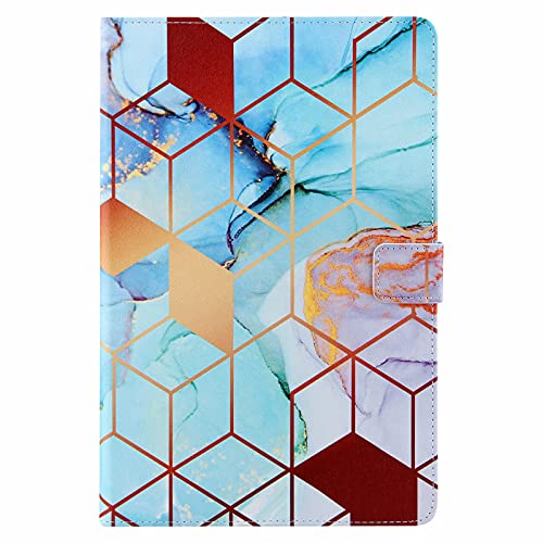 Miagon Tablet Cover for Universal Case for all {10'}(Samsung Android iPad Amazon Kindle etc),PU Leather Flip Wallet Case with Stand Function Shockproof,Geometric Marble
