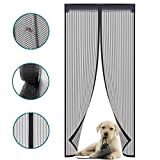 Magnetic Screen Door with Durable Polyester Anti Mosquito Bugs Mesh Curtain Easy to Install Full Frame Velcro, Fits Door Size up to 36'x83'