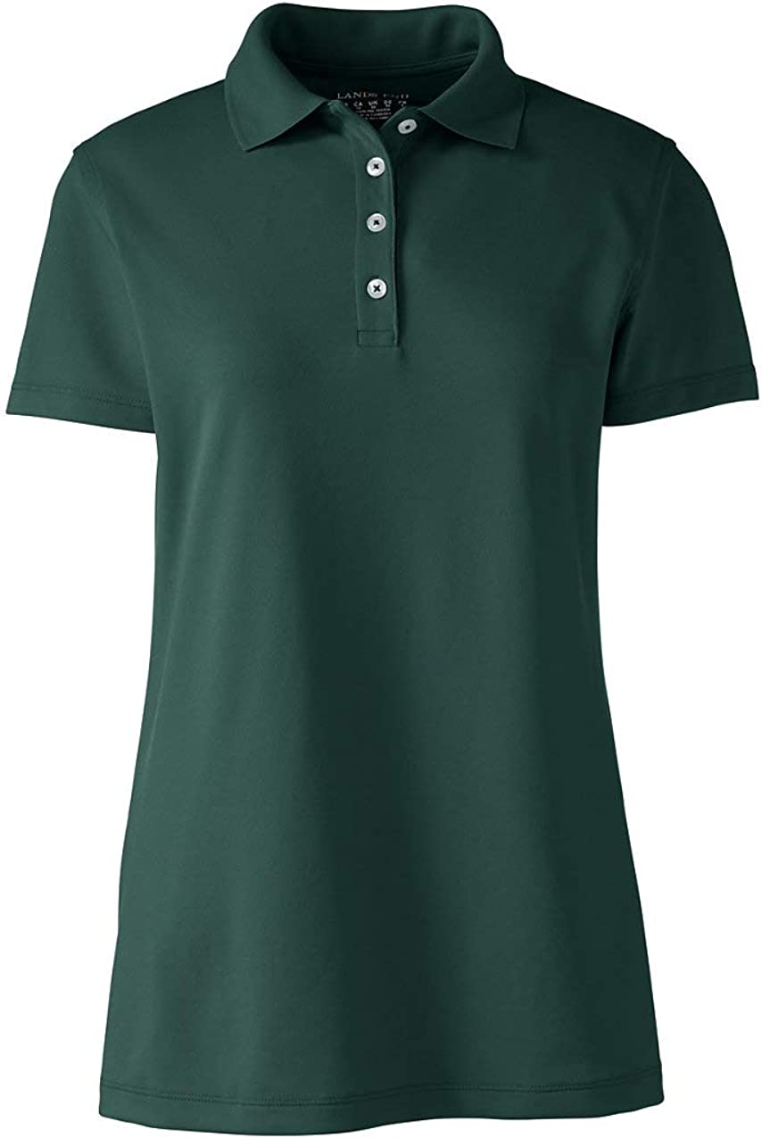 Lands' End Women's Short Sleeve Polyester Polo Shirt