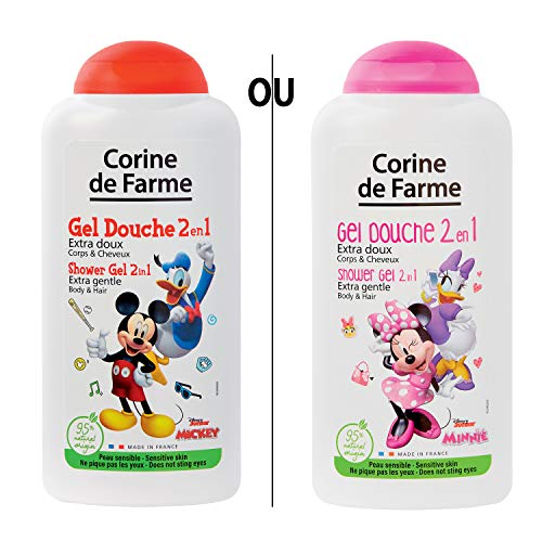 Corine de Farme | Mickey et Minnie | Disney | Gel douche 2en1 Extra Doux Corps & Cheveux | 250ml | Modèle aléatoire