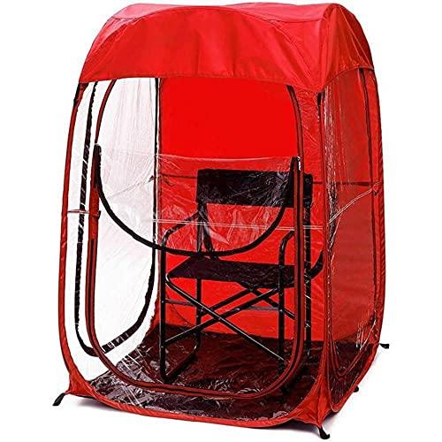 Canopy para Eventos Deportivos al Aire Libre, toldo para Pesca, observación de Juegos de fútbol, Silla de fútbol, toldo para observación, toldo Individual Doble Rojo
