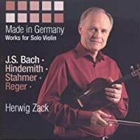 Made in Germany: Works for Solo Violin by Herwig Zack (2013-10-08)