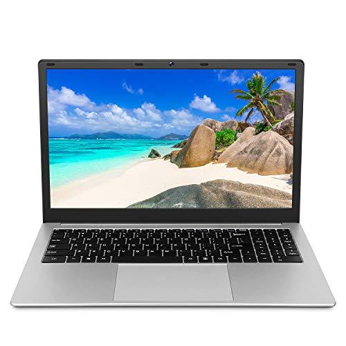 Laptop 15.6 inch Notebook (Intel Celeron CPU Quad Core 6GB DDR3 RAM 128GB SSD Storage 1920x1080 FHD Display Windows 10 Pro OS Preinstalled) with Webcam WiFi HDMI RJ45 Port Independent Numeric Keypad