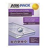 ASK Pack Housse De Protection Matelas Queen Premium - Imperméable et Résistant aux Déchirures – avec Fermeture éclair pour Largeur 160cm / 30cm de Haut / 200cm de Longueur - Ultra Solide 120µ