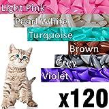 120 pcs Soft Cat Claw Caps Cats Nail Claws 6X Colors + 6X