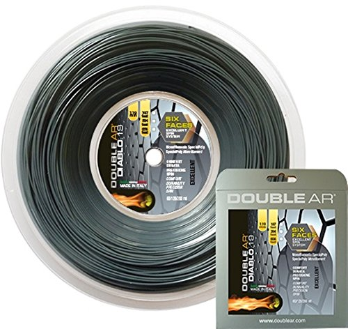 DOUBLE AR - Corda da Tennis Diablo 19, Monofilamento Co-Poliestere 1.19mm Grigia. Set Singolo 12Mt