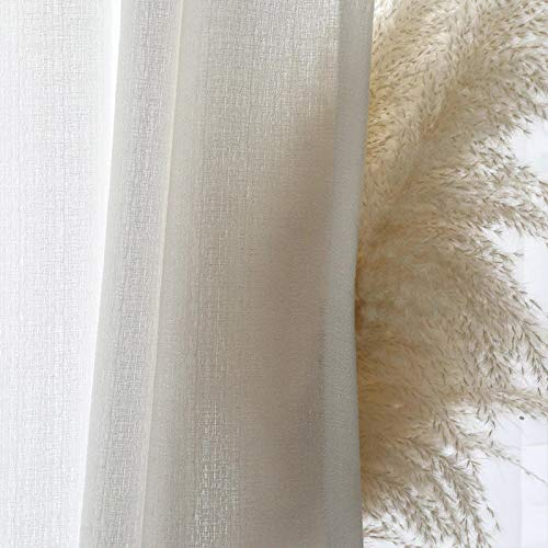 Modern Solid White Thick Tulle Curtains for Living Room Sheer Curtain Bedroom Voile Decorative Window Treatments Custom Blinds (W100xL250cm 1pcs)
