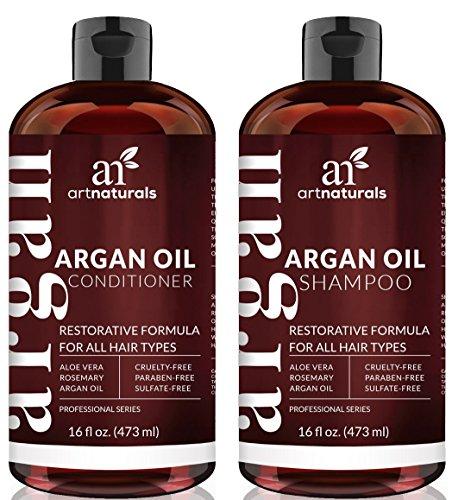 Shampoing et Après-Shampoing Bio à l'Huile d'Argan Art Naturals