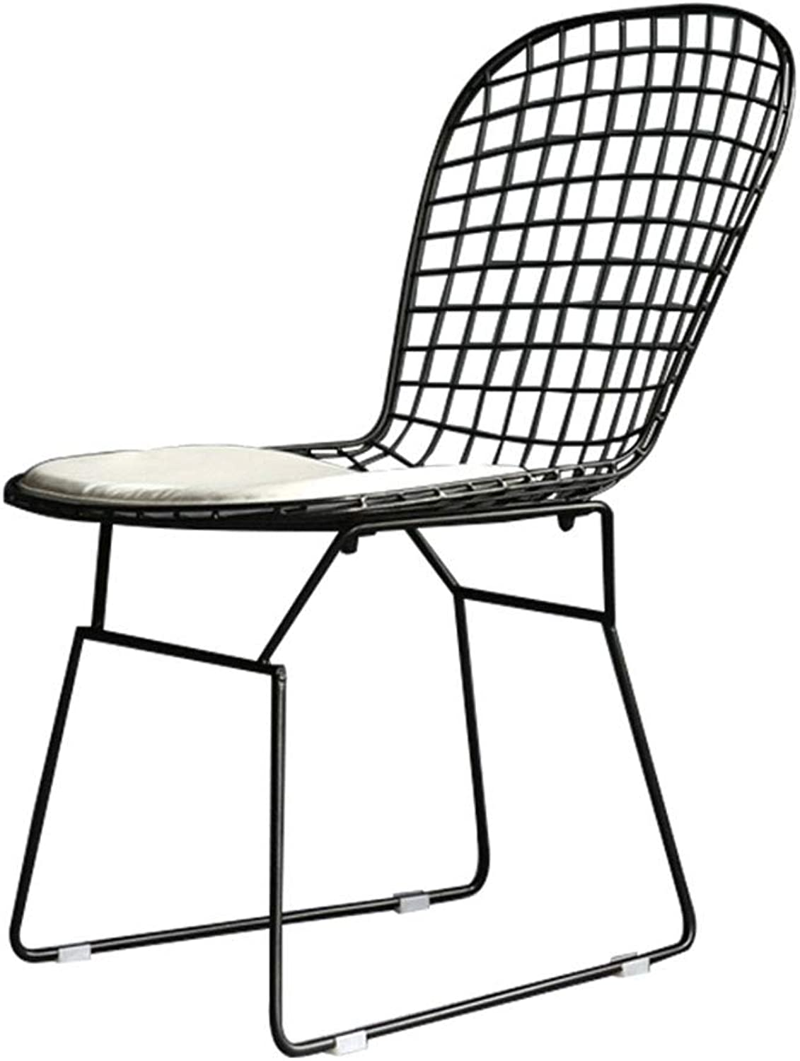Industrial Style Barstool   Vintage Chair with PU Cushion for Living Room Bar Coffee (color   Black)