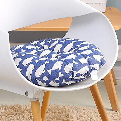 RAQ Zitkussen voor bureaustoel, zitkussen voor computerstoel, rond kussen, sofakussen, traditioneel zitkussen voor studenten 40x40cm Zwart