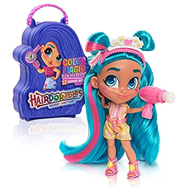 Just Play Hairdorables Collectible Doll Color Magic Blow Dry Besties Series 6, Styles and case Colors May Vary, Each…