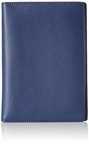 AmazonBasics - Cartera de piel para pasaporte con bloqueo para RFID, color azul marino