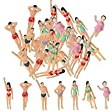 BESTZY Trenes Modelo 1:75 figuras pintadas HO (30pcs)