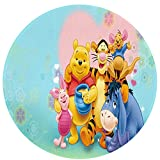Cute Pillow Winnie The Pooh Rugs Carpets Children's Area Bedroom Girl Boy Bedside Indoor Living Room Lounge Kitchen Design Rectangle Non-slip Durable Home Decoration